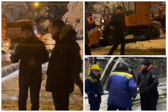 Алматы әкімі қар құрсауында қалған көшелерді тазалау процесін тексерді (видео)