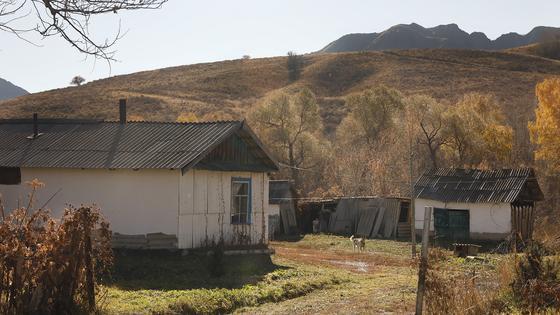 Дома стоят в предгорье