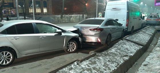Несколько авто столкнулись