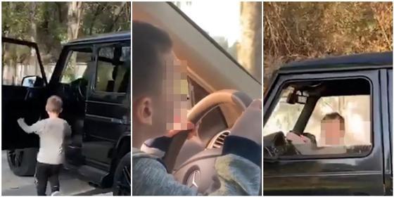 Мужчина посадил 6-летнего сына за руль в Алматы (видео)