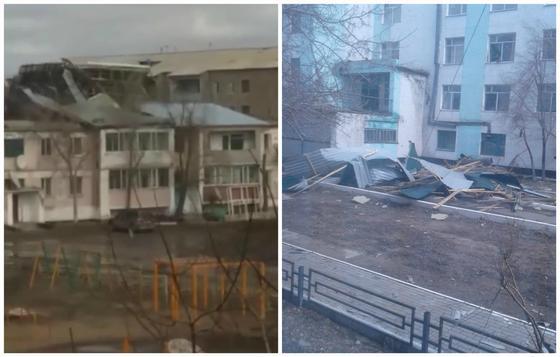 Мощный ураган обрушился на Акмолинскую область (фото, видео)