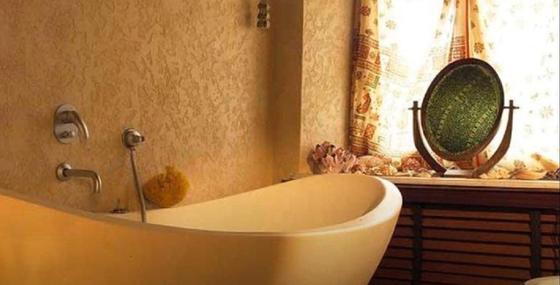 Декоративная штукатурка: интерьер ванной
