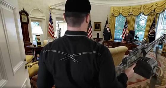 Кадыров с пулеметом в Белом доме: в Чечне сняли комедийный ролик в ответ на санкции
