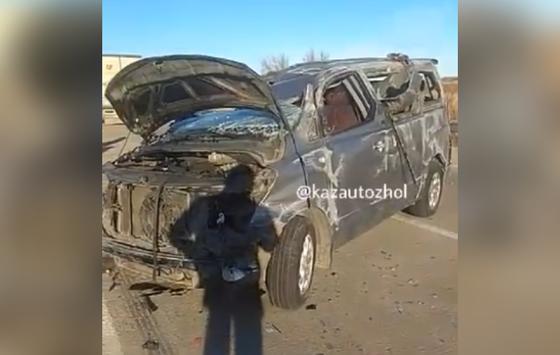 "2 из 11 пострадавших погибли из-за очередного ДТП на трассе ""Самара - Шымкент"""