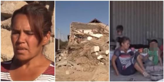 Мать с четырьмя детьми ночуют на развалинах снесенного дома в Туркестане