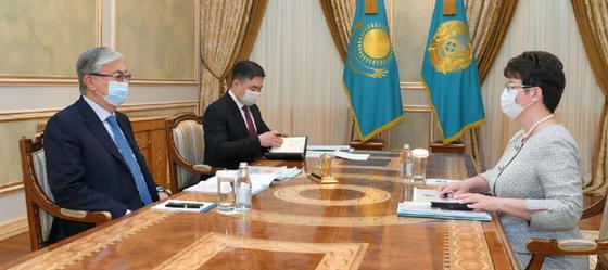 Касым-Жомарт Токаев и Наталья Годунова