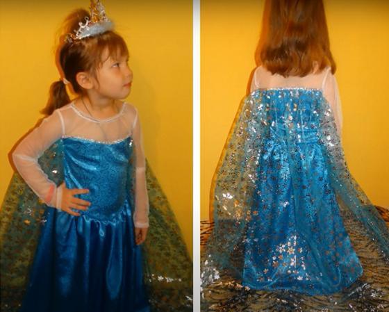 Девочка в костюме Эльзы