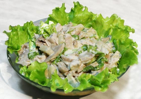 Легкие салаты на праздничный стол с грибами