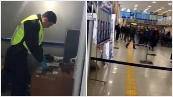 Полицейский случайно выстрелил в женщину в аэропорту Атырау (видео)