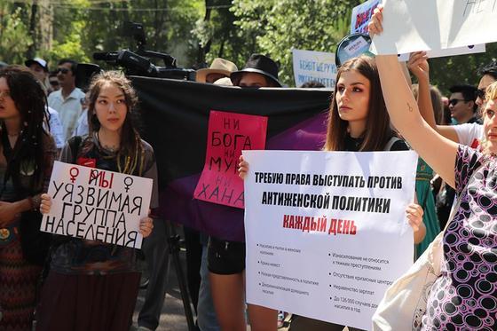 """""""Можем проводить культурно"""": мирный митинг прошел в Алматы"""
