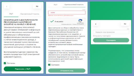 Интерфейс нового сайта для проверки накоплений