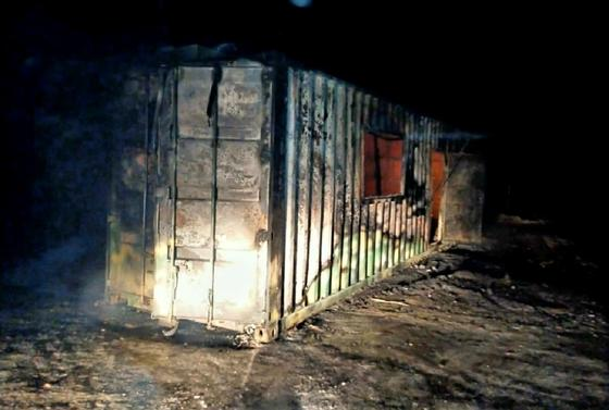 Пожар в вагончике в Костанайской области