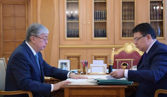 Токаев принял министра энергетики Каната Бозумбаев