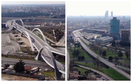 Как выглядят опустевшие дороги Италии после вспышки коронавируса - видео с дронов