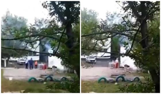 Теміртауда балабақша аумағында кәуап пісіргендер видеоға түсіп қалды