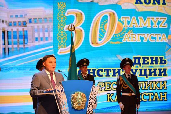 В Акмолинской области прошло торжественное собрание ко Дню Конституции