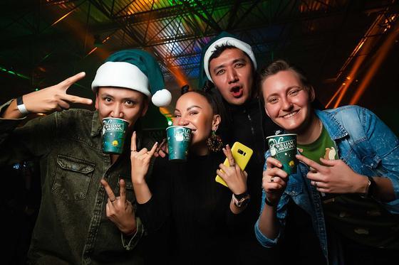 Новогодняя вечеринка без правил отгремела в Алматы