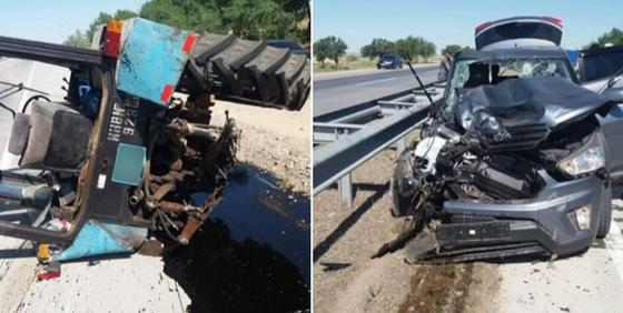 Пассажир погиб при столкновении легкового авто и трактора в Туркестанской области