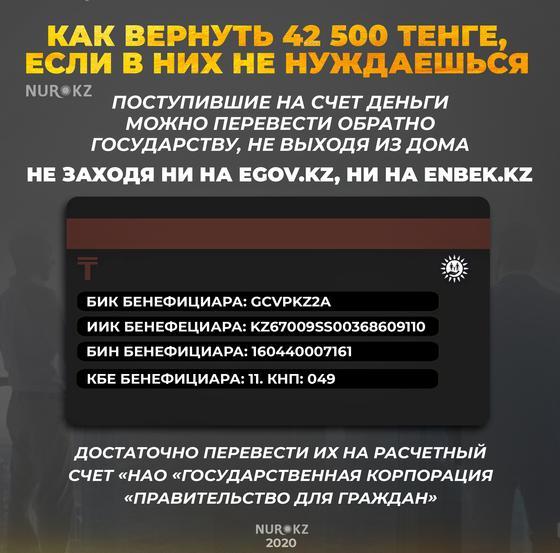 Как казахстанцы могут вернуть 42 500 тенге, если они в них не нуждаются