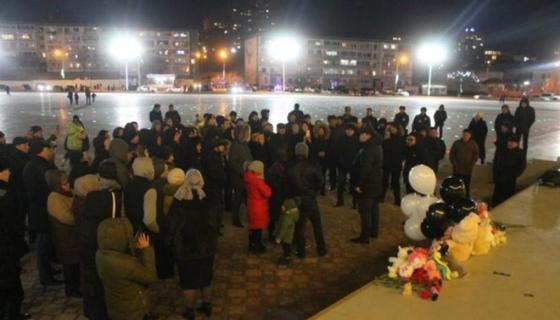 Ақтауда Астанада қайтыс болған қыздарды еске алып, құрмет көрсетілді