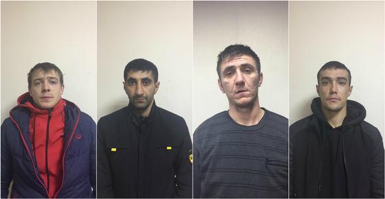 Полиция показала фото мужчин, задержанных за кражу кабеля в Нур-Султане