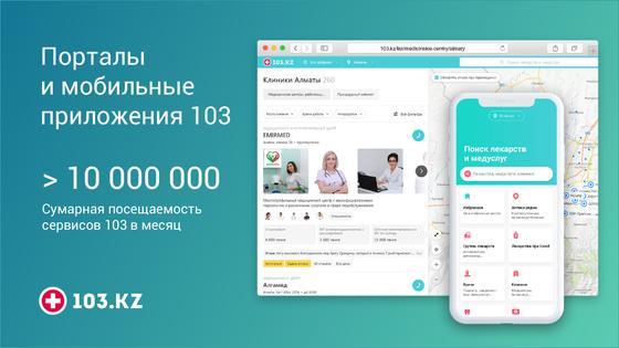 Иллюстрация мобильное приложение 103.kz