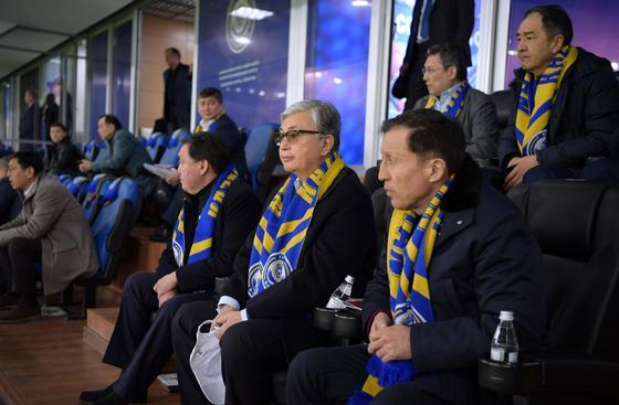 Токаев, Мамин, Сагинтаев и Джаксыбеков пришли на матч