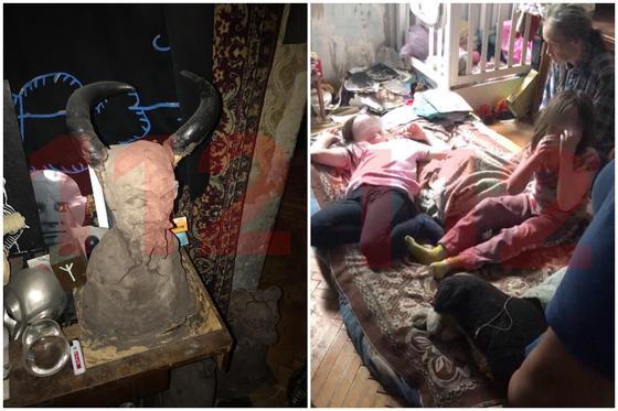 фотореп Двух девочек-маугли забрали у семьи сатанистов в Москве