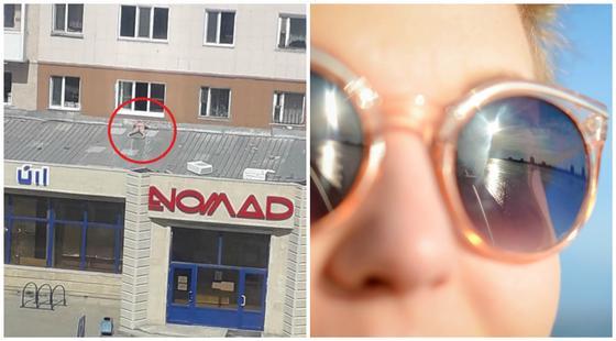 Загорающую на крыше полуголую девушку сняли на камеру в Кокшетау