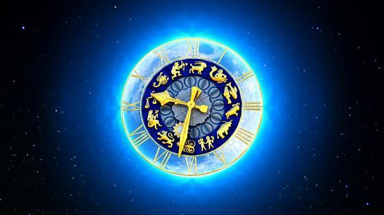 Астрологические часы со знаками Зодиака