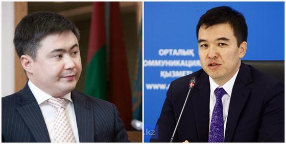 Тимур Сүлейменов, Руслан Дәленов. Фото: today.kz, primeminister.kz