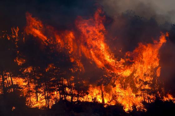 Леса горят в Анталье
