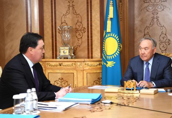 Нурсултан Назарбаев принял Аскарар Мамина