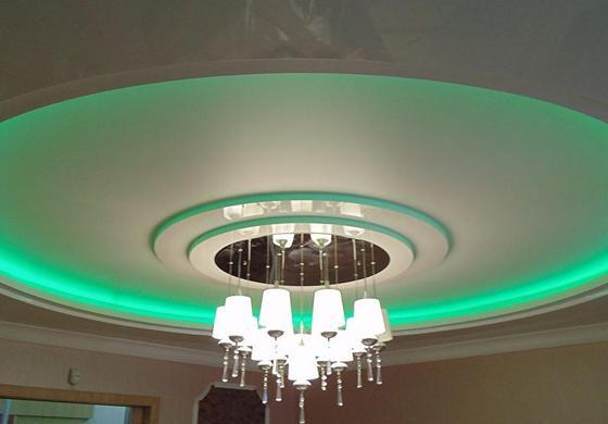подсветка потолок из гипсокартона