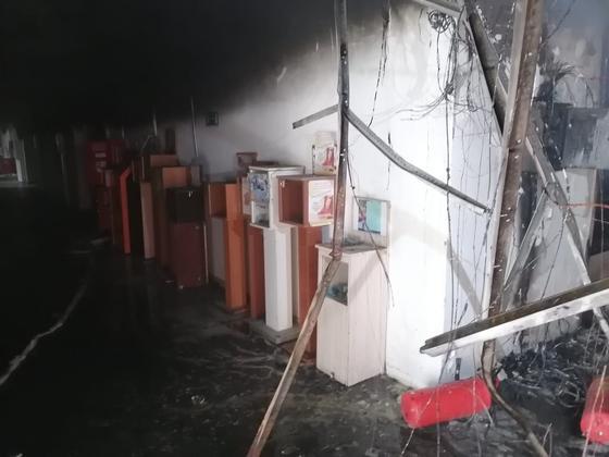 Пожар в торговом доме в Павлодаре