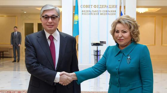 Токаев встретился с Валентиной Матвиенко