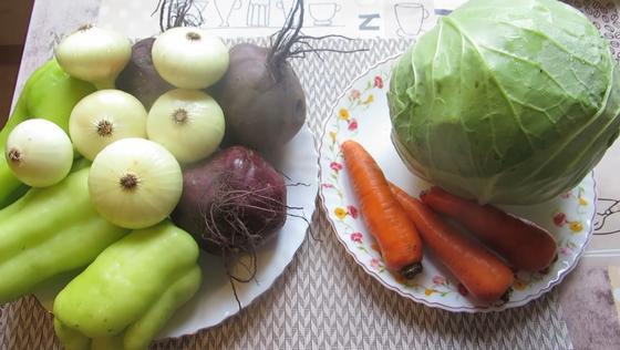 Овощи для борщевой заправки