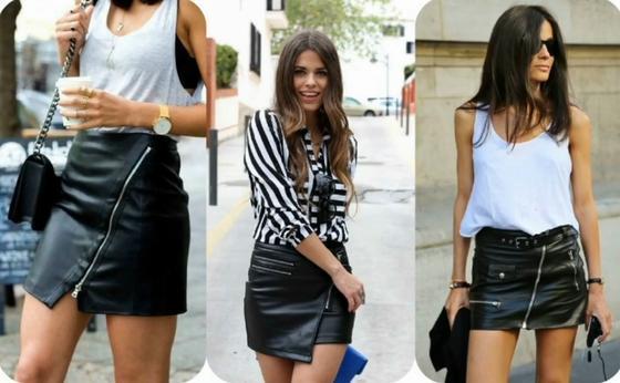 Модные кожаные мини-юбки 2021