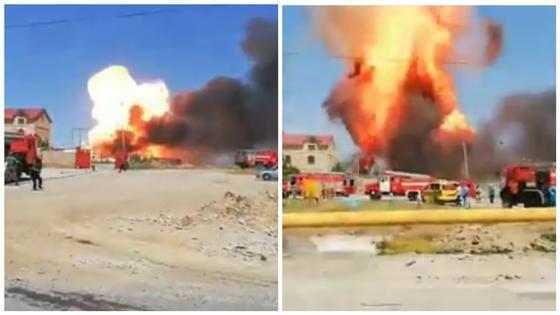 Взрыв произошел в Шымкенте (видео)