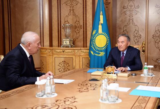 Елбасы принял президента Национальной академии наук Мурата Журинова