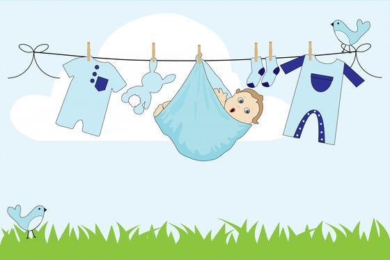 Новорожденный младенец в пеленке