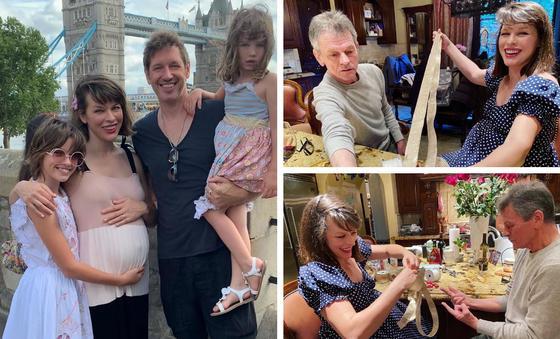 Милла Йовович с семьей. Фото: instagram.com/millajovovich