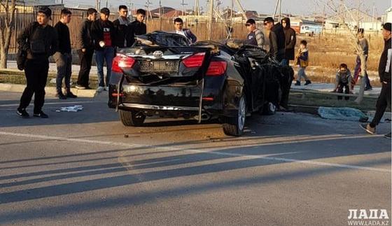 Мужчина пострадал в тройной аварии возле мечети в Жанаозене (фото, видео)