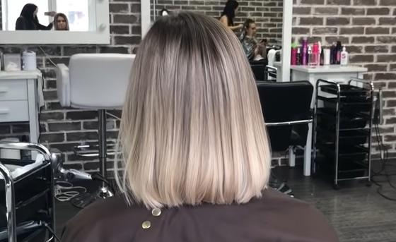 Светлый шатуш на средние волосы