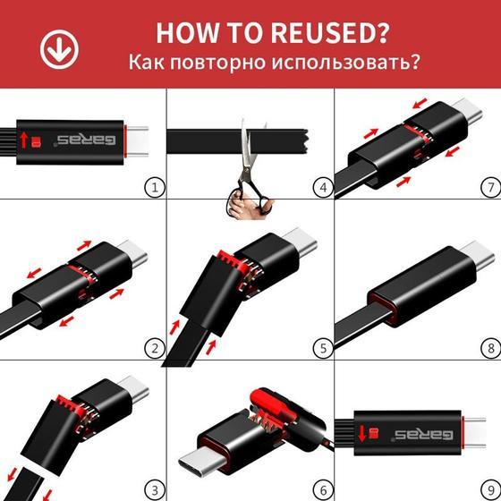 10 качественных USB-кабелей для Android и iPhone от Allsales.kz
