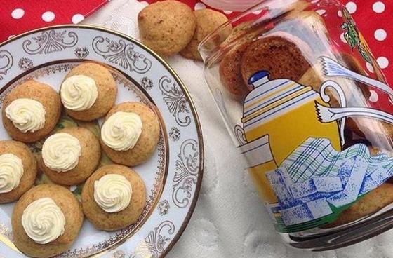 Бисквитное печенье с тыквой