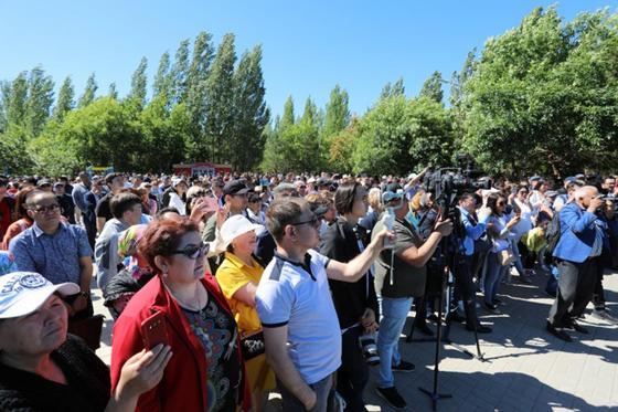 Участники митинга призвали казахстанцев к сохранению стабильности в обществе
