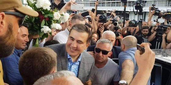 Саакашвили Украинаға оралды. Фото: facebook.com/SaakashviliMikheil