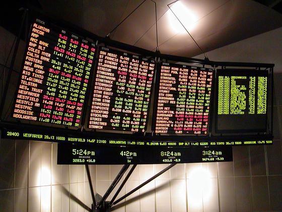 Отображение хода торгов на больших мониторах