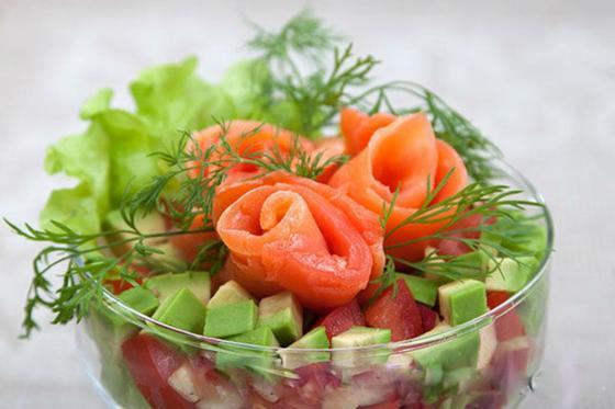 Быстрый салат на романтический ужин